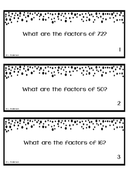 Naming Factors: A Classroom Quest