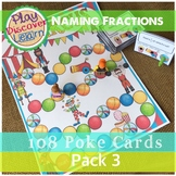 Naming Fractions 3 in 1 Game Pack 3 with Bingo Cards and Task cards