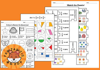 Naming Fractions Activity (Parts of a Whole and Collections)