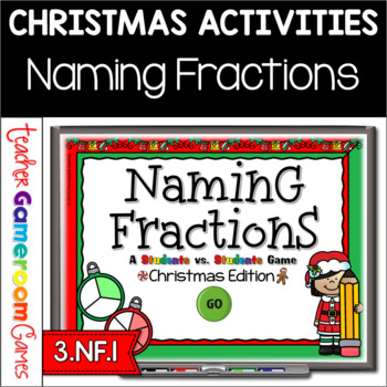 Naming Fractions Christmas Powerpoint Game