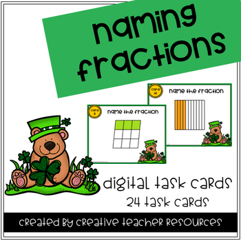 Naming Fractions Digital Task Cards-For Use with Google or Microsoft Classroom