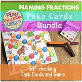 Naming Fractions 3 in 1 Bundle Game Pack with Bingo Cards