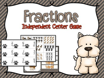 Fractions Independent Center Game #2