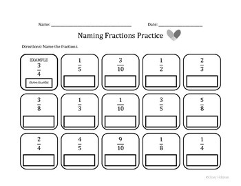 Naming Fractions Practice