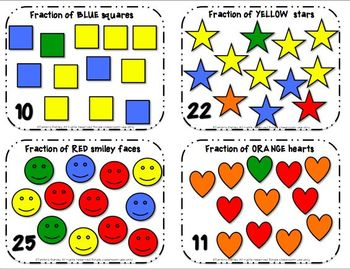 Naming Fractions Task Cards & Scoot