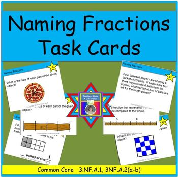 Naming Fractions Task Cards