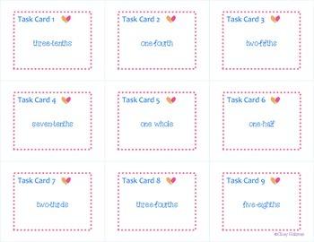 Naming Fractions Task Cards