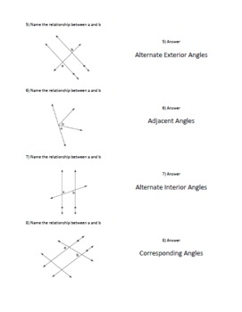 Naming Geometry Angles - Cooperative Learning - Quiz, Quiz, Trade