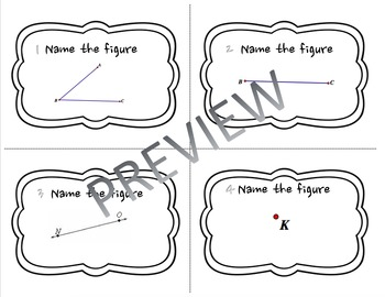 Naming Geometry Figures Task Cards