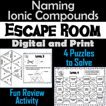Naming Ionic Compounds: Chemistry Escape Room - Science