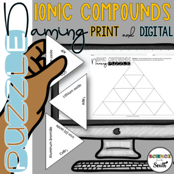 Naming Ionic Compounds Puzzle for Review or Assessment