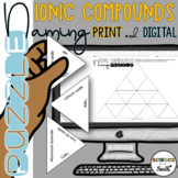 Naming Ionic Compounds Tarsia Puzzle in Digital and Print   Distance Learning