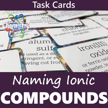 Naming Ionic Compounds Task Card Activity