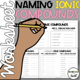 Naming Ionic Compounds Worksheet for Review or Assessment