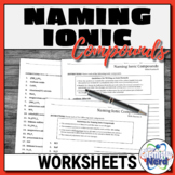 Naming Ionic Compounds Worksheets   Printable and Digital