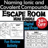 Naming Ionic and Covalent Compounds Activity: Chemistry Escape Room - Science