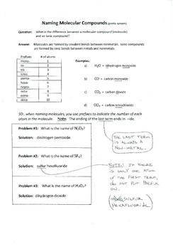 Naming Molecular Compounds (molecules)