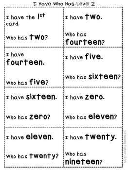 Naming Number Words Nonstop-Differentiated Activities for Reading Number Words