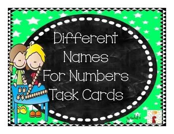 Naming Number with Base Ten Blocks Task Cards