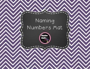 Naming Numbers Mat