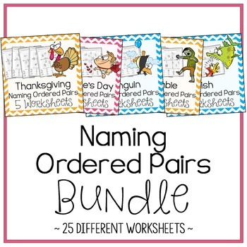 Naming Ordered Pairs Worksheet Bundle By Amazing Mathematics Tpt