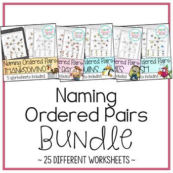 Naming Ordered Pairs - Worksheet Bundle