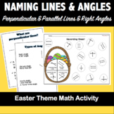 Naming Parallel & Perpendicular lines and Angles-Easter