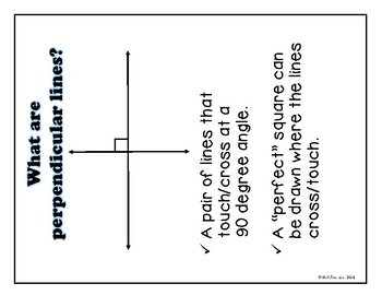 Naming Parallel & Perpendicular lines and Angles-Fall