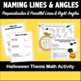 Naming Parallel & Perpendicular lines and Angles- Halloween
