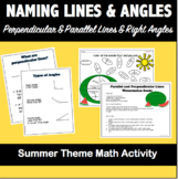 Naming Parallel & Perpendicular lines and Angles-Summer
