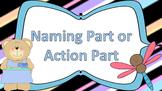 Naming Part vs. Action Part Task Cards