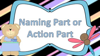 Naming Part vs. Action Part Task Cards