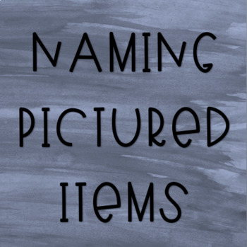 Naming Pictured Items