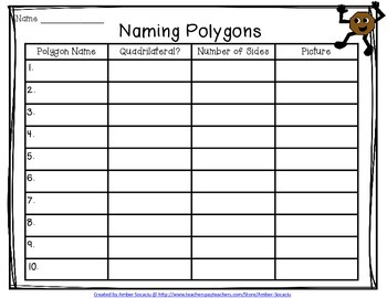 Naming Polygons Activity Freebie!