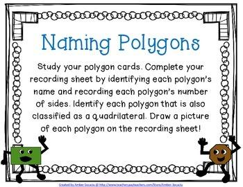 Naming Polygons Activity Freebie!