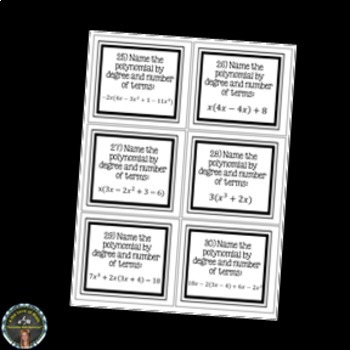 Classifying Polynomials: Task Cards INB Page