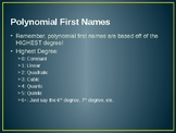 Naming Polynomials Introduction