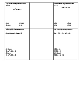Naming Polynomials Partner Worksheet