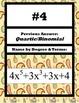 Naming Polynomials Scavenger Hunt