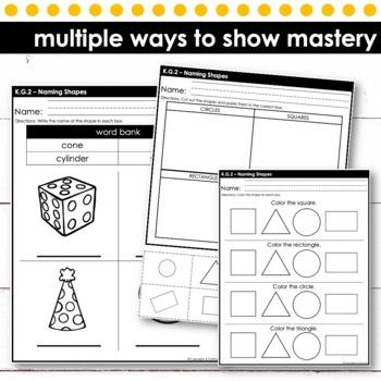 Naming Shapes | Kindergarten Math