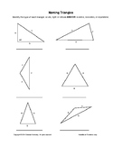 Naming Triangles: Acute/Right/Obtuse AND/OR Scalene/Isosceles/Equilateral - FREE