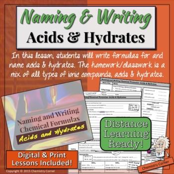 Naming & Writing Chemical Formulas: Acids & Hydrates