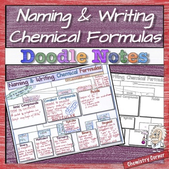 Naming & Writing Chemical Formulas Doodle Notes