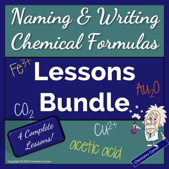 Naming & Writing Chemical Formulas-LESSONS BUNDLE