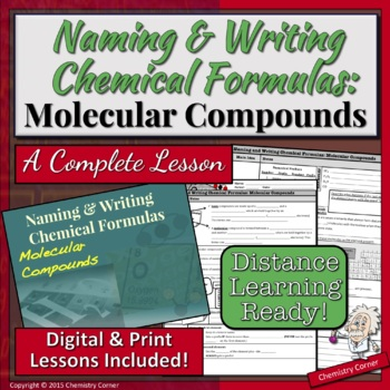 Naming & Writing Chemical Formulas: Molecular Compounds