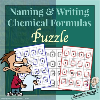 Naming & Writing Chemical Formulas: Puzzle