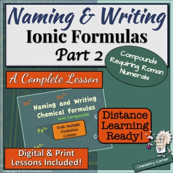 Naming & Writing Ionic Formulas: Part Two