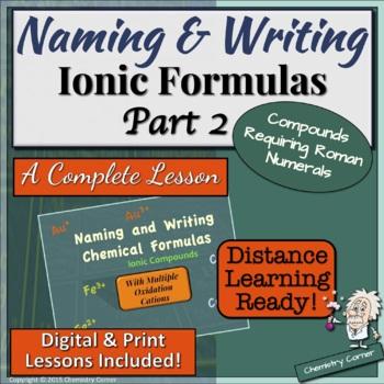 Naming & Writing Ionic Formulas: Part Two