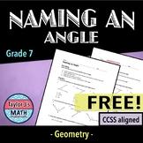 Naming an Angle Worksheet