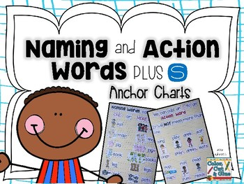Naming and Action Words Plus S - Anchor Charts
